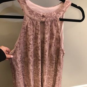 Francesca's front keyhole mauve dress